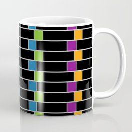 Colorful squares composition on black- multicolor gifts Coffee Mug