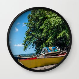 Traditional Filipino Kayak Wall Clock