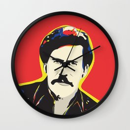 Pablo Escobar Pop Art Typography Quote Print Poster Wall Clock