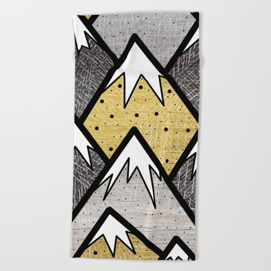 The Gold and Silver Hills Beach Towel