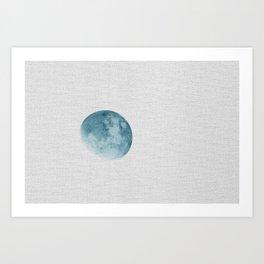 I See The Blue Moon Rising Art Print