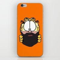 garfield iPhone & iPod Skins featuring Garfield Cat Beard by Stuff Your Eyes
