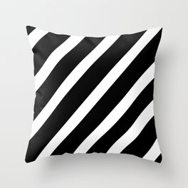 Black'n'White Stripes Throw Pillow