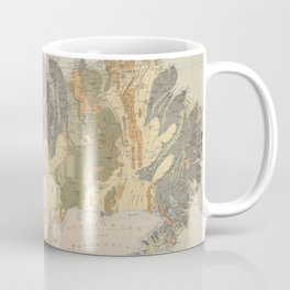 Vintage Geological Map of Iceland (1901) Coffee Mug