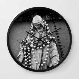 Black Mary Wall Clock