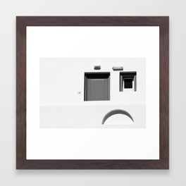 Face in the wall - Paros Greece Framed Art Print
