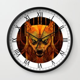 Canis Lupus I Wall Clock