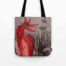 Woman Wolf 2 Tote Bag