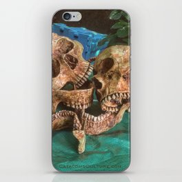 Catacomb Culture - Human Skulls iPhone Skin