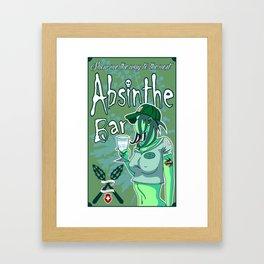 Absinthe Bar Pinup Framed Art Print