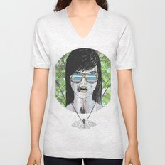 Tropical Zombie  Unisex V-Neck