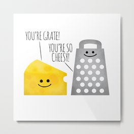 Cheesy Couple Metal Print