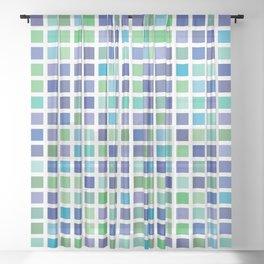 City Blocks - Ocean #889 Sheer Curtain