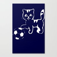 portlandia Canvas Prints featuring Portlandia please win! meow, meow meow by junaputra