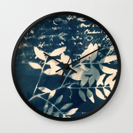 Fragments of the Past (9), art print, collage, blue print, wall art, wall decor, home decor Wall Clock