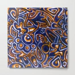 Jack Blue/Orange Metal Print
