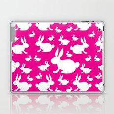 Bunny Pattern Pink and White Laptop & iPad Skin