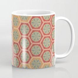 Hexagonal Dreams - Tangerine and Orange Coffee Mug