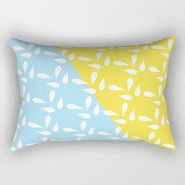Blue and Yellow Color-Block Pattern Rectangular Pillow