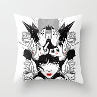 witchcraft Throw Pillows featuring Witchcraft by Sergio Saucedo