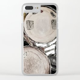 drum set, ready to rock Clear iPhone Case