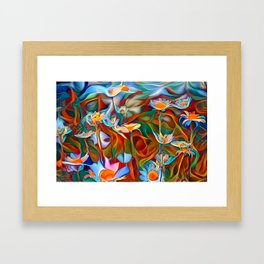 Psychedelic Daises Framed Art Print