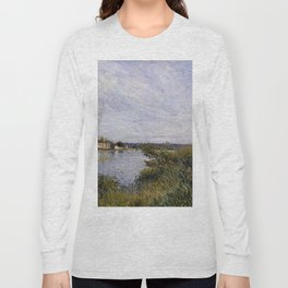 Alfred Sisley - View of Saint-Mammès, 1880 Long Sleeve T-shirt