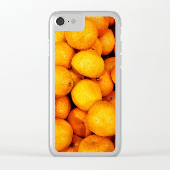 Mandarin, tangerine Clear iPhone Case
