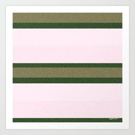 Pink Roses in Anzures 2 Stripes 3H Art Print