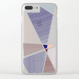 Striped in colors Clear iPhone Case