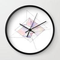pantone Wall Clocks featuring Pantone Geo by Hayley Lang