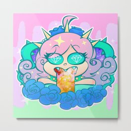 follo 4 more ~*pastel goth*~ Metal Print