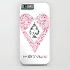 heart, club, spade and diamond negative space design  iPhone 6s Slim Case
