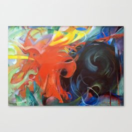 Franz Marc - Fighting forms Canvas Print