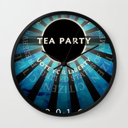 Tea Party 2016 Wall Clock