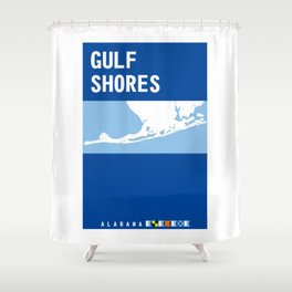 Gulf Shores - Alabama. Shower Curtain