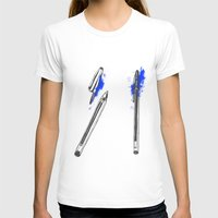 pen T-shirts featuring Pen by david magila