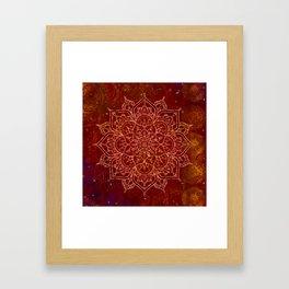Rust Red Mandala Framed Art Print