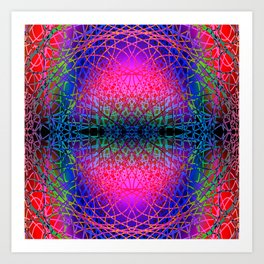 Chaotic hippie Art Print