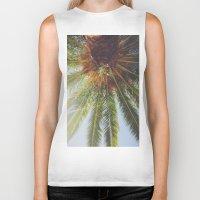 palms Biker Tanks featuring Palms by crashley96