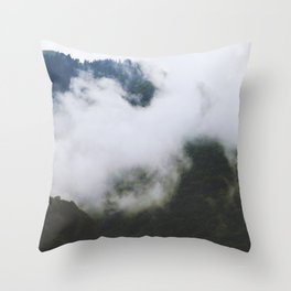 Mysterious mountain Throw Pillow