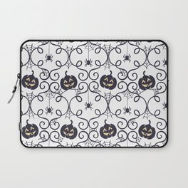 happy hallowen curves and pumkins pattern Laptop Sleeve