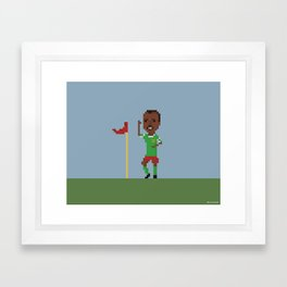 Roger Milla's goal celebration Framed Art Print