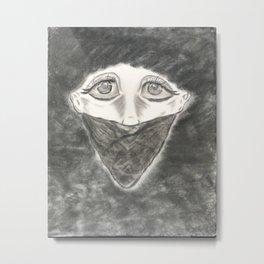 Sad Silence Metal Print