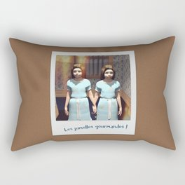 Les jumelles gourmandes ! Rectangular Pillow