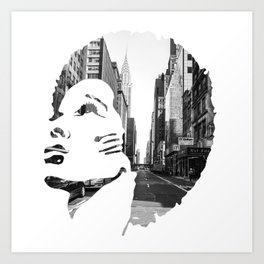 Surimpression Art Print