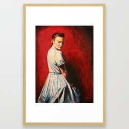 Sarah in a Blue Dress Framed Art Print