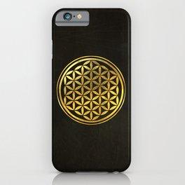 Golden Flower Of Life iPhone Case