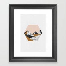 Geo Landscape Hexagon Framed Art Print