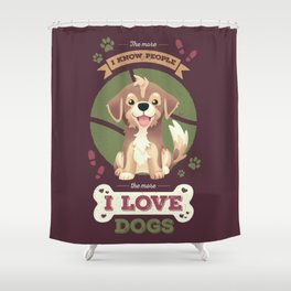 I Love Dogs! Shower Curtain